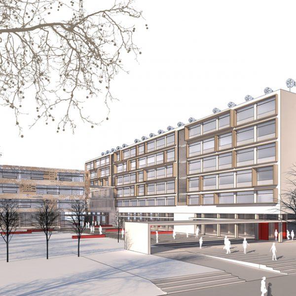 Visualisierung/Perspektive Heinrich-Hertz-Schule Karlsruhe