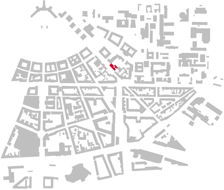 Schwarzplan Ludwig-Erhard-Schule Karlsruhe