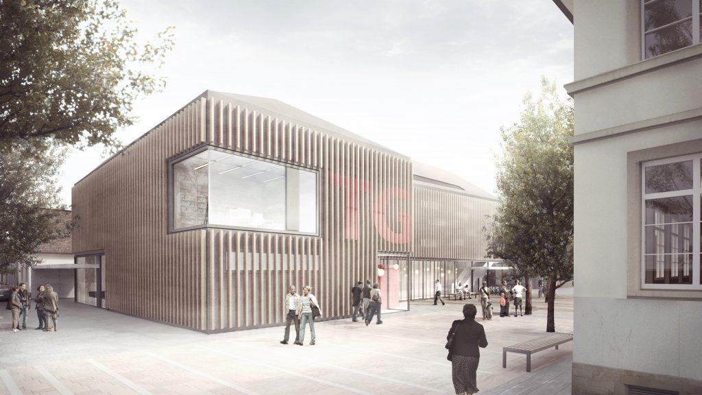 Visualisierung/Perspektive Neubau Turngemeinde Neureut