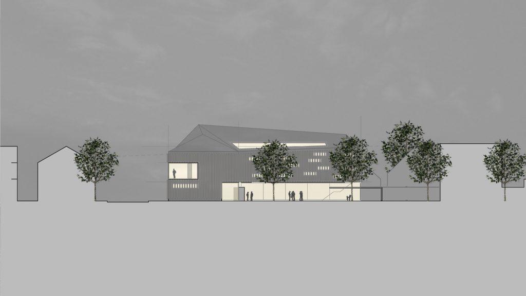Nordostansicht Neubau Turngemeinde Neureut