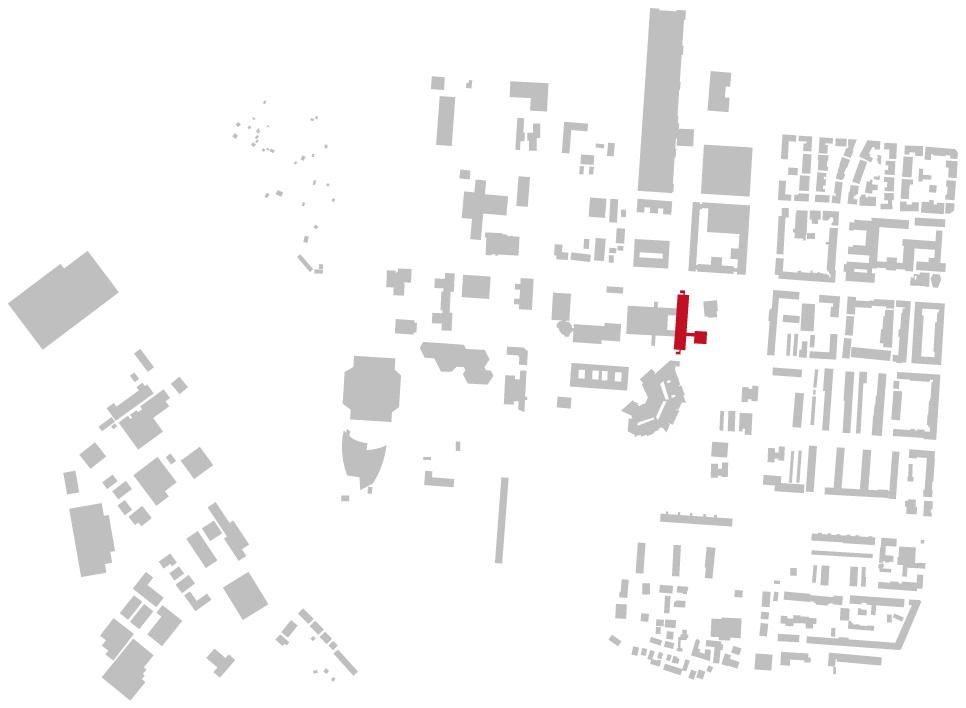 Schwarzplan, Lageplan der Heinrich-Hertz-Schule in Karlsruhe