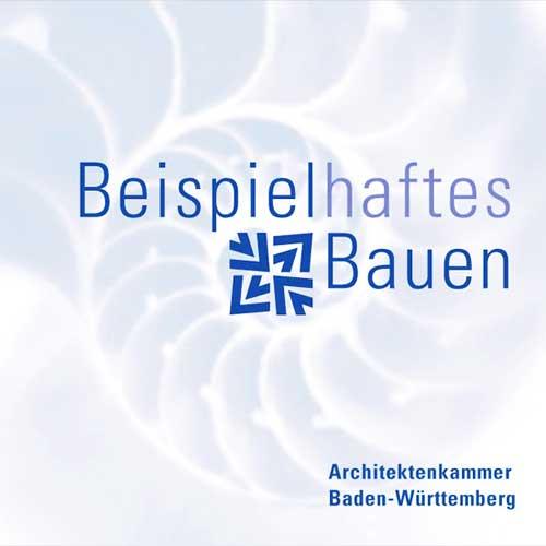 Das Logo der Auslobung beispielhaftes Bauen der Architektenkammer Baden-Württemberg