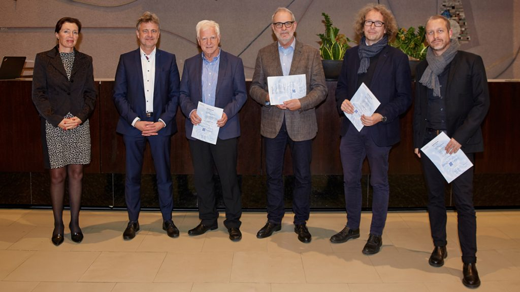Foto der Preisverleihung Beispielhaftes Bauen 2018 in Karlsruhe