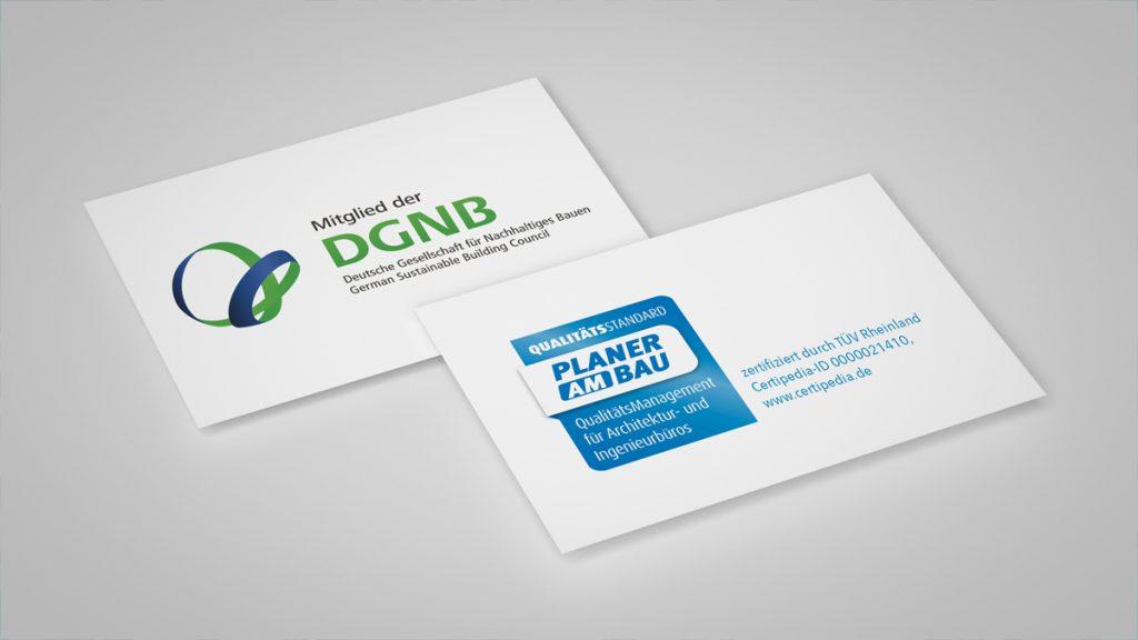 DGNB und Planer am Bau Zertifizierung