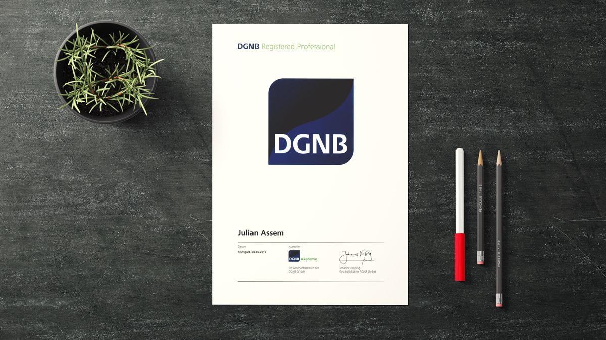 Julian Assem DGNB Zertifizierung