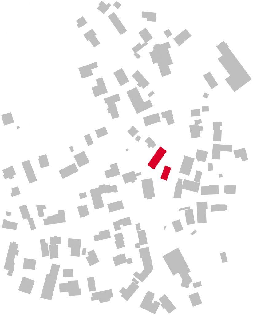 Schwarzplan ökumenisches Gemeindehaus Fahrenbach