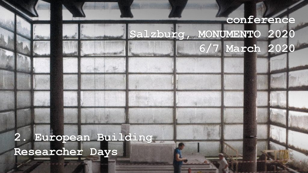 2nd european building researcher days